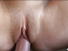 Stunning darksome brown hotty sucks big rod and acquires vagina screwed