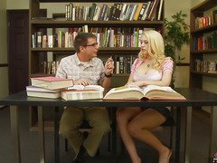 We all know that Kagney Linn Karter isn't a model student.  All that hottie craves to do is acquire some hard dick betwixt her legs.  That Chick tells her study fellow here that that hottie doesn't crave to do homework, just fuck and engulf, then let the cum trickle out and onto her books.