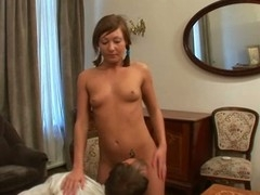 Pleasant hottie is getting her wet crack fucked by trainer from behind