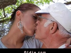 What a desirous old stud would not want to be fucked by engulf a pretty youthful cutie. Angel Rivas knows how to satisfy the dicks and can't live out of being wazoo nailed by 'em.  Two old knob for a youthful cute booty here