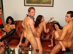 This mind-blowing group fucking happened at one of the wildest hardcose sex parties ever. Watch and have a fun!